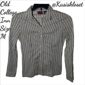 Old College Inn Button Down Stretch Dress Shirt M
